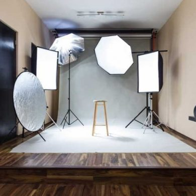 set up home photo studio